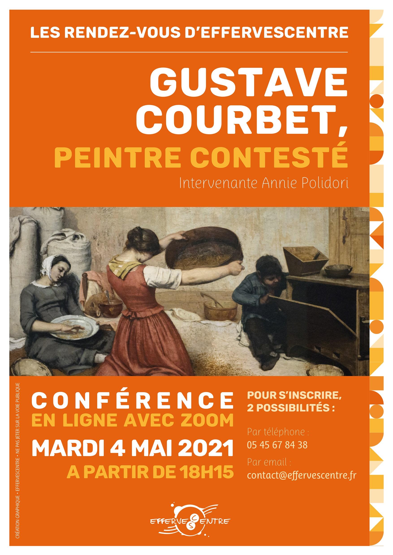 affiche présentant la conférence sur le peintre Gustave Courbet